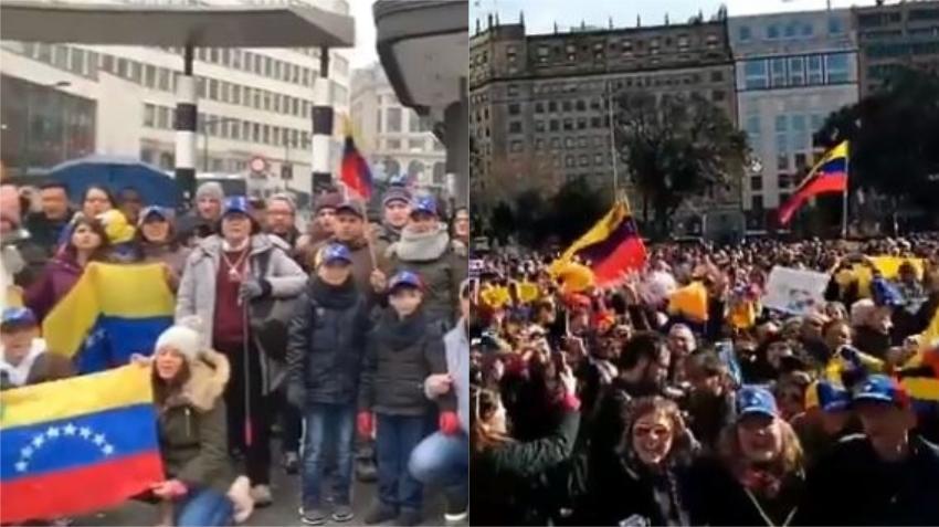 Oposición venezolana desafía a Maduro en las calles en varias ciudades del mundo durante el 20 aniversario del chavismo