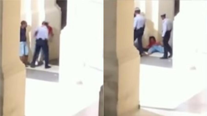 Otro acto de brutalidad policial en La Habana; captado en cámara justo frente el Gran Hotel Manzana Kempinski