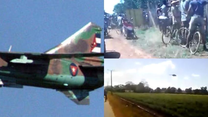 Llegan las primeras imágenes del lugar donde se estrelló un avión MIG-23 en Cuba