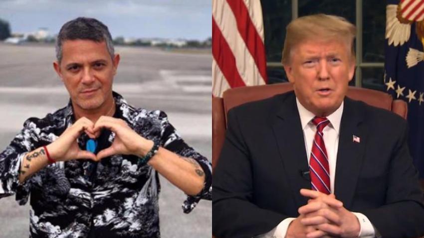 Alejandro Sanz molesto porque el mérito de la libertad de Venezuela se lo pueda llevar Donald Trump