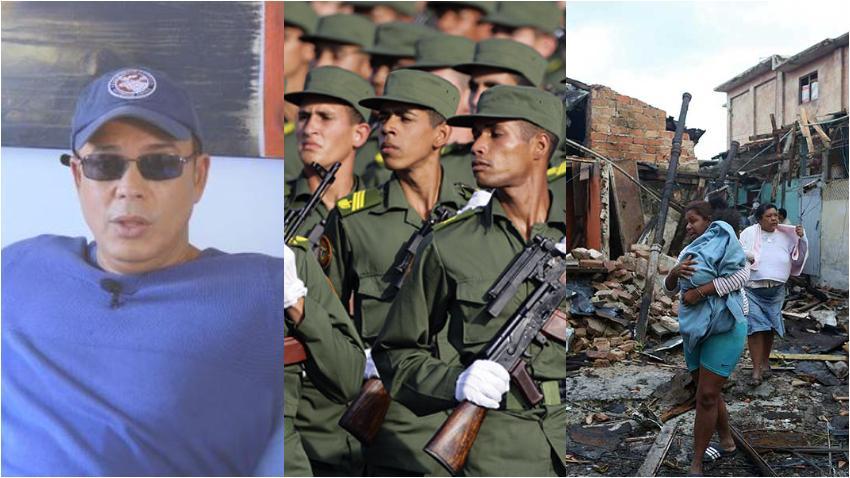 """Alexis Valdés al gobierno de Cuba: """"¿Si Cuba tiene un ejército gigantesco que construye hoteles y marinas y campos de golf, no puede reconstruirles a los damnificados sus casas?"""""""