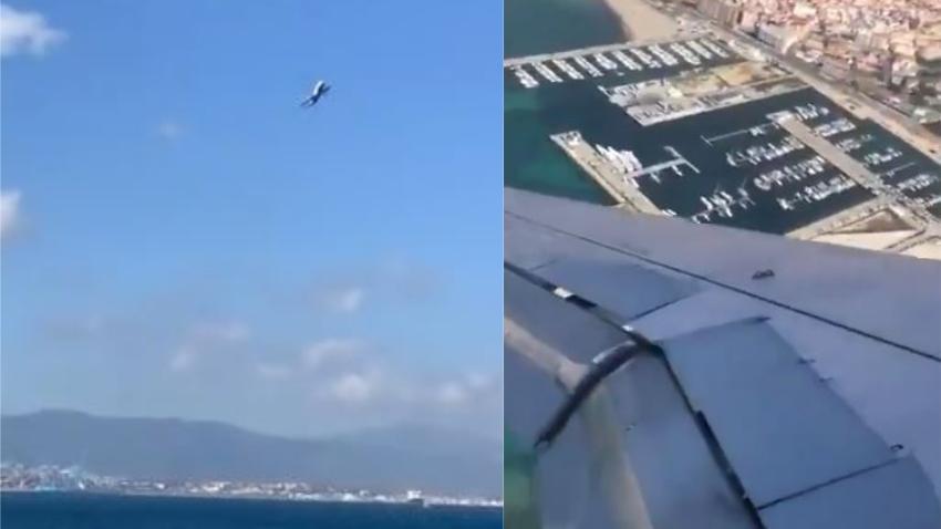 Hombre graba avión que se sacude violentamente por fuertes vientos mientras intentaba aterrizar