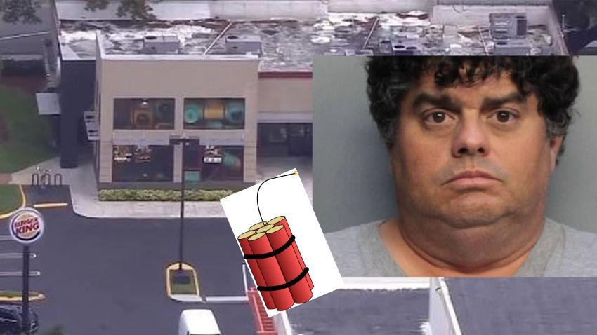 Arrestan a hombre de Miami que llevó bomba falsa a restaurante de Burger King