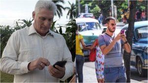Díaz-Canel asegura que el acceso a Internet en Cuba es comparable a la media en el mundo