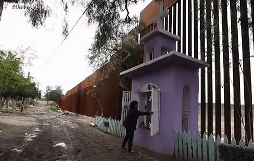 Mexicano construye capilla en el muro fronterizo; autoridades aseguran que invade terreno estadounidense