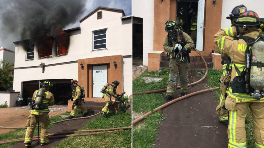 Incendio en el Suroeste de Miami deja a una familia sin hogar, murieron dos de sus mascotas