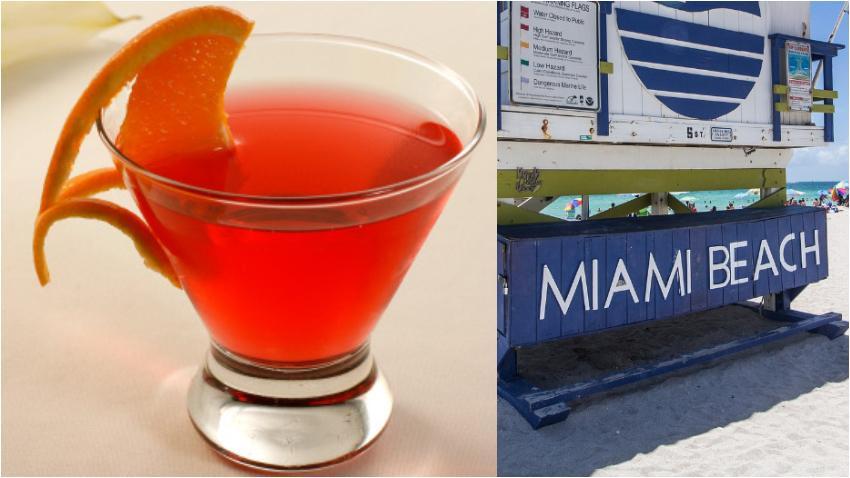 Cóctel Miami Beach, un trago que lleva la esencia de la ciudad