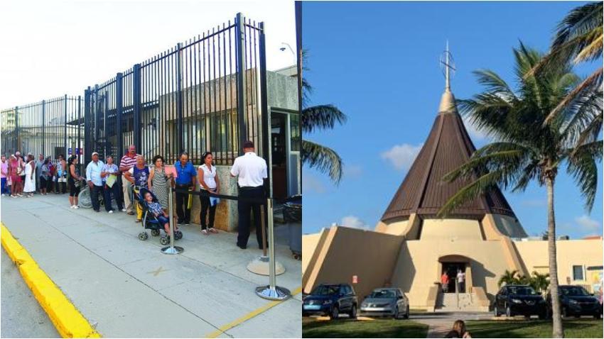 Cubanos desesperados por la reunificación familiar convocan a una misa en el Santuario Ermita de la Caridad en Miami