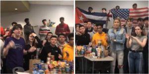 Estadounidenses mandan un mensaje de amor al pueblo cubano. Los estudiantes llevarán donaciones a damnificados en La Habana