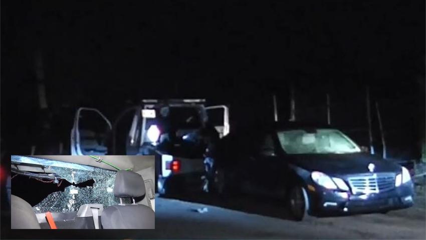 Dejan de pagar el Mercedes y disparan contra gruero del banco cuando va a remolcar el auto