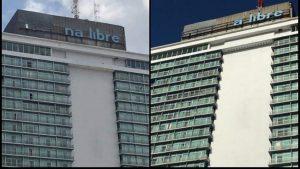 Cartel del hotel Habana Libre se está quedando sin letras