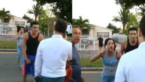 Familia de cubano acusado de pornografía infantil agreden a periodista de América Tevé Daniel Benítez