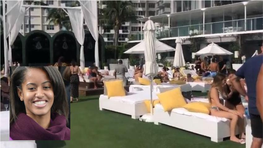 Paparazzis captan a Malia Obama de fiesta en Miami
