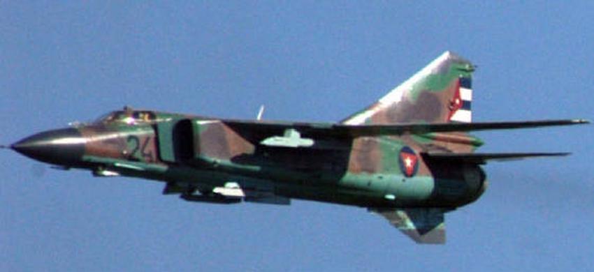 Se estrella avión militar MiG-23 en Cuba