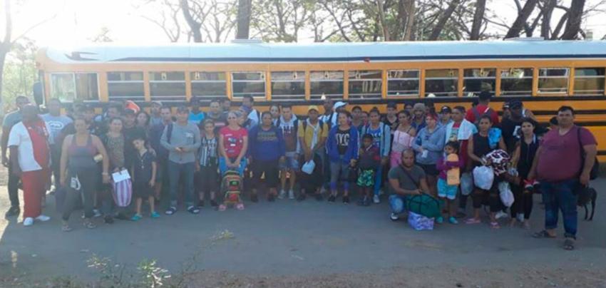 Un grupo de 45 migrantes cubanos fueron detenidos en Honduras