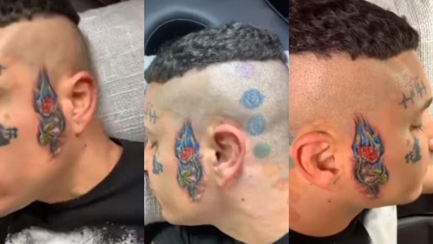 Osmani García se hace nuevo tatuaje en la cara y se lo dedica a su madre