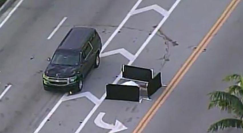 Un carro golpea y mata a un hombre cruzando la calle en Miami Beach