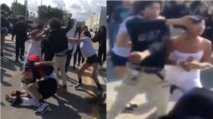 Video muestra caótica pelea entre adolescentes cerca de escuela secundaria en Miami; un estudiante saca una pistola