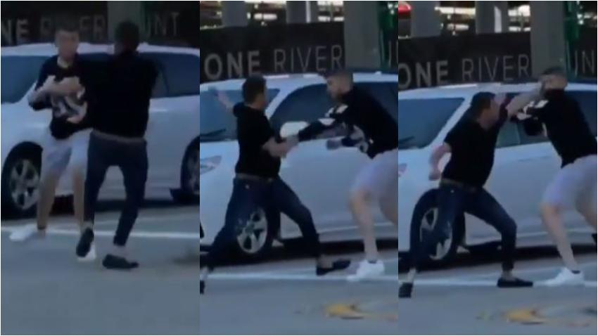 Una disputa por el tráfico termina en una pelea a golpes en el Centro de Miami