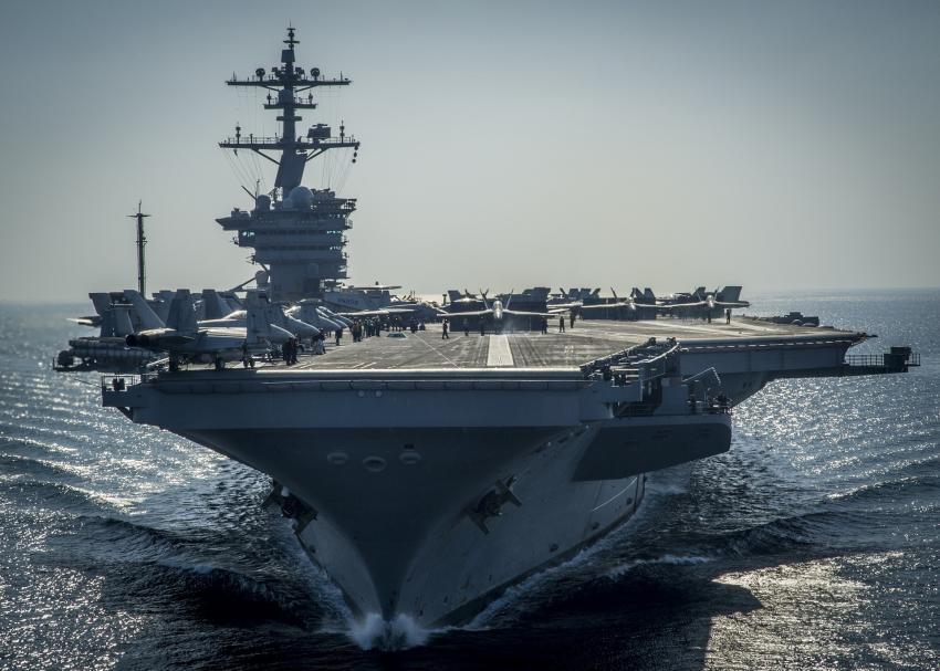 Estados Unidos despliega un portaaviones nuclear y otros seis barcos de guerra en medio de la crisis en Venezuela