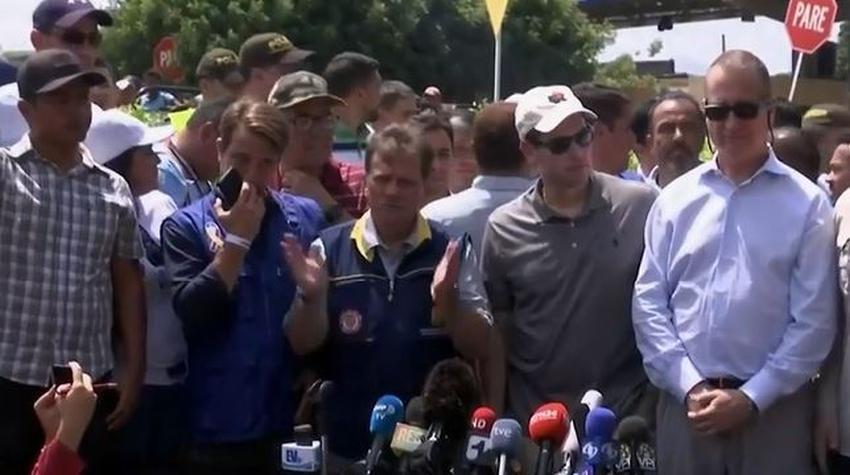 Marco Rubio y Mario Díaz Balart llegaron este domingo a la frontera entre Colombia y Venezuela para supervisar entrada de ayuda humanitaria