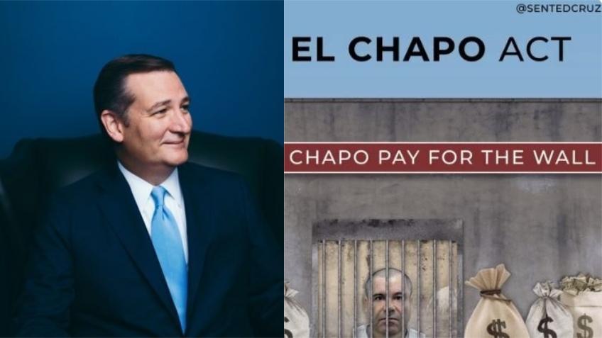 """Senador cubanoamericano Ted Cruz quiere que el capo de la droga """"El Chapo"""" financie el muro del presidente Trump"""