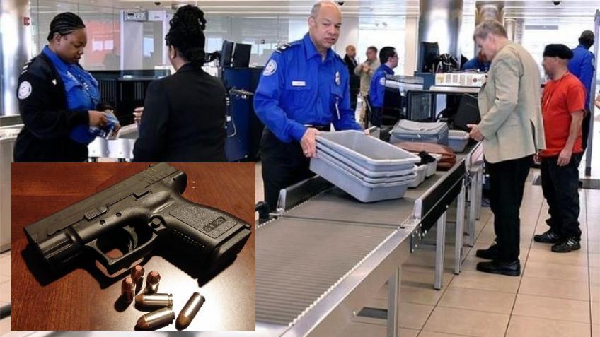Encontraron 4.239 armas en equipajes en los aeropuertos de Estados Unidos; la mayoría cargadas