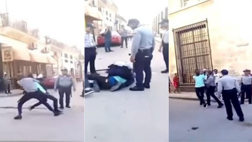"""Policía en Cuba golpea violentamente a un opositor por gritar, """"Los Castros son unos asesinos, abajo la dictadura, abajo los Castros"""""""