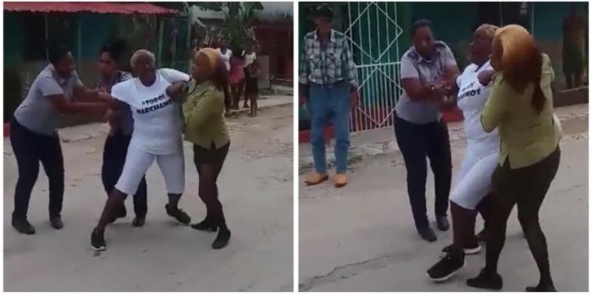 Así fue el violento arresto de una Dama de Blanco en La Habana