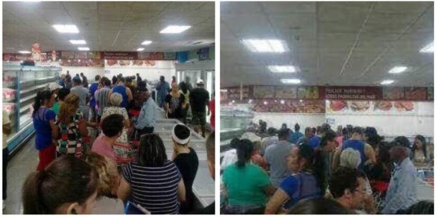 Habaneros hacen cola en el mercado de 3ra y 70 en el municipio Playa para comprar pollo