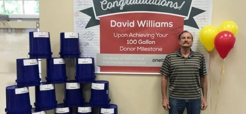 Hombre de Florida dona 100 galones de sangre en 22 años