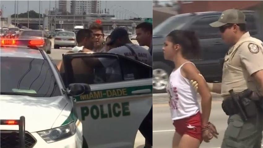 Auto robado en Miami lleva a persecución policial, accidente y varios arrestados