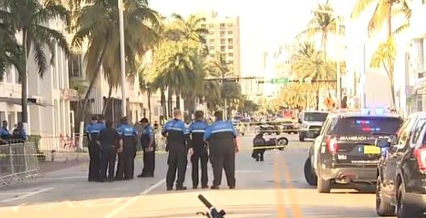 Oficial de Miami Beach herido después de ser golpeado por un motociclista en Collins Avenue durante el Spring Break