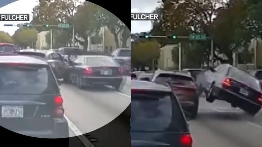 En cámara SUV causa accidente en la US1 y se da a la fuga; policía de Miami busca al responsable