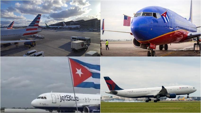 Aerolíneas que viajan a Cuba desde Miami