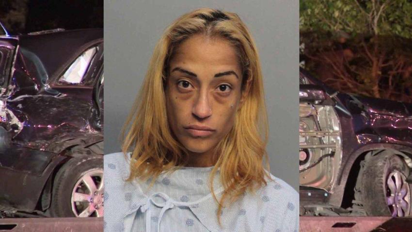 Mujer que chocó con policía en Coral Gables dándose a la fuga manejaba un auto robado