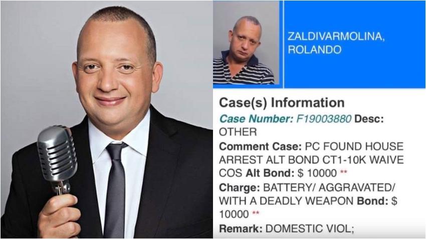 Arrestan en Miami al presentador y locutor cubano Rolando Saldivar bajo cargos de violencia doméstica y asalto con un arma mortal