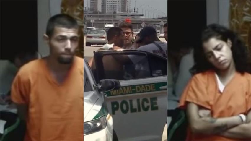 En corte responsables de accidente en la Calle Ocho que huían de la policía en carro robado