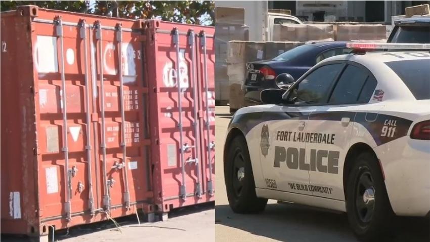 Autoridades encuentran dos contenedores de ropa de playa robados de un negocio en Fort Lauderdale, pero aun buscan a los ladrones