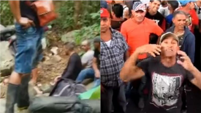 Comparten videos de cubanos en la selva del Darien y en su camino por México intentando llegar a la frontera con Estados Unidos
