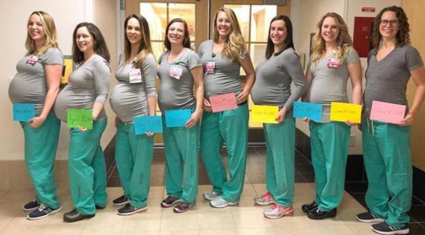 Baby Boom en Hospital de Portland: Nueve enfermeras de la misma unidad de parto darán a luz entre primavera y verano