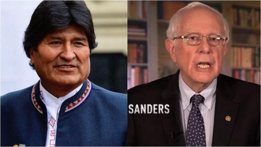 """Evo Morales llama """"hermano"""" a Bernie Sanders y respalda su candidatura a la presidencia de Estados Unidos"""