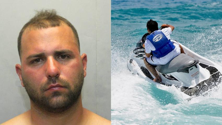 Arrestan hombre de Hialeah que obligó a la policía  perseguirlo mientras huía en una moto acuática con un niño entre las piernas por los Cayos de la Florida