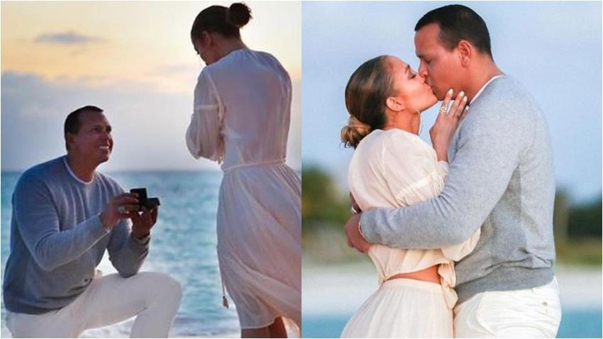 Así fue la pedida de matrimonio de Alex Rodríguez a Jennifer López
