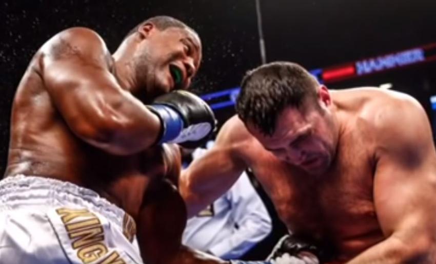 Boxeador cubano King Kong Ortiz vence a pesar de tener su mano zurda lesionada