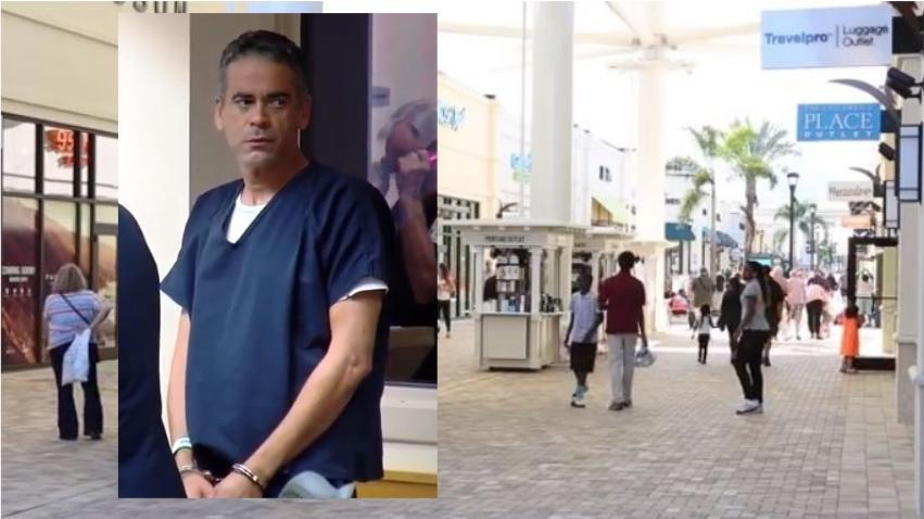 Hombre saca un machete para apuñalar a un compañero de trabajo en los Outlets de Palm Beach