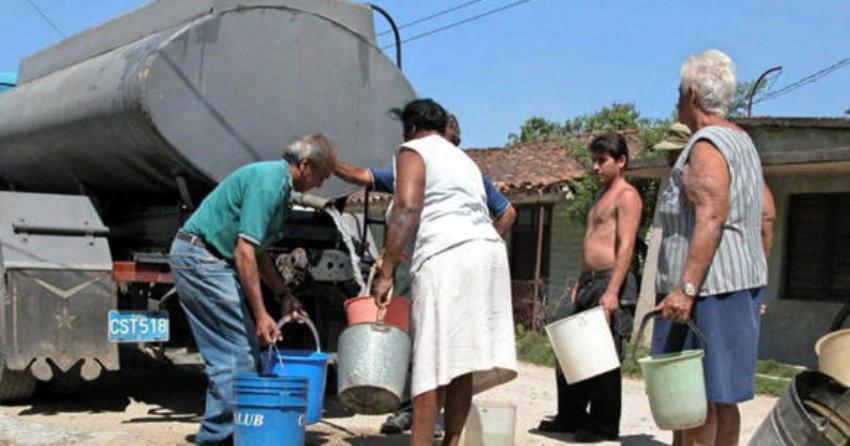 Casi toda Cuba se ve afectada  por los graves problemas con el abasto de agua