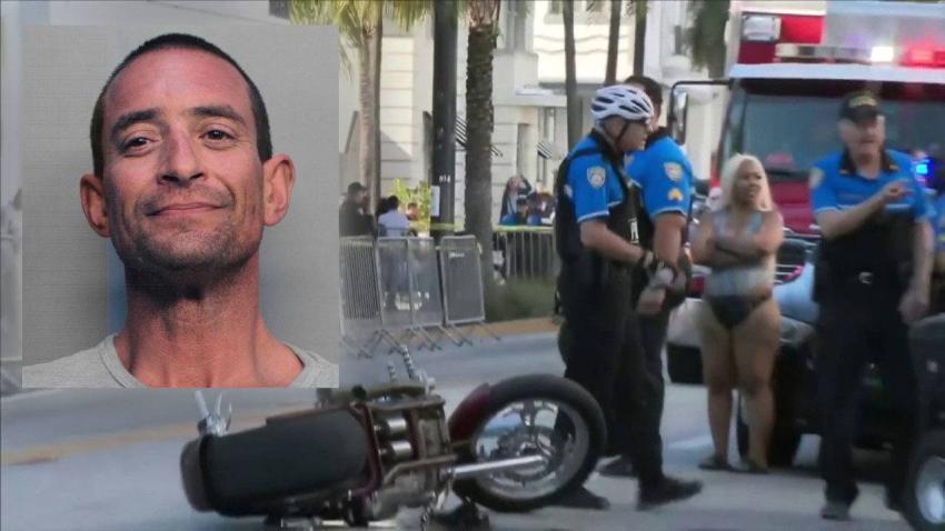 Identifican al hombre que atropelló un policía en Miami Beach