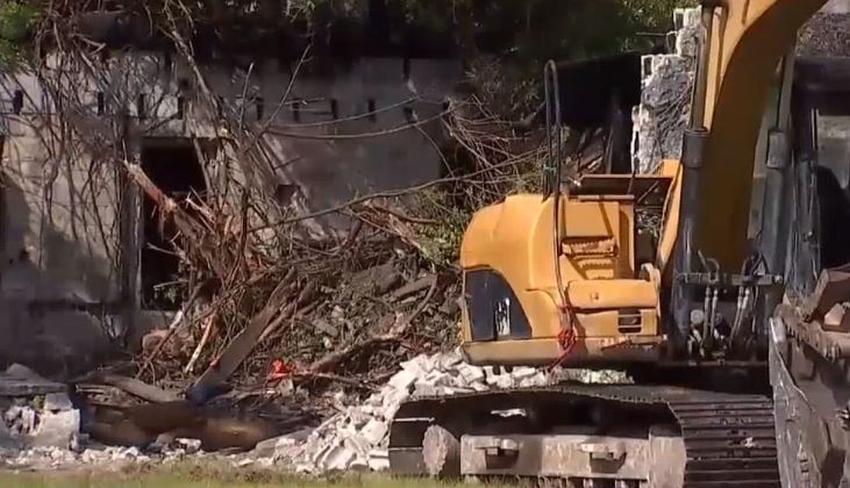 Hallan restos humanos en una casa en demolición en Miami