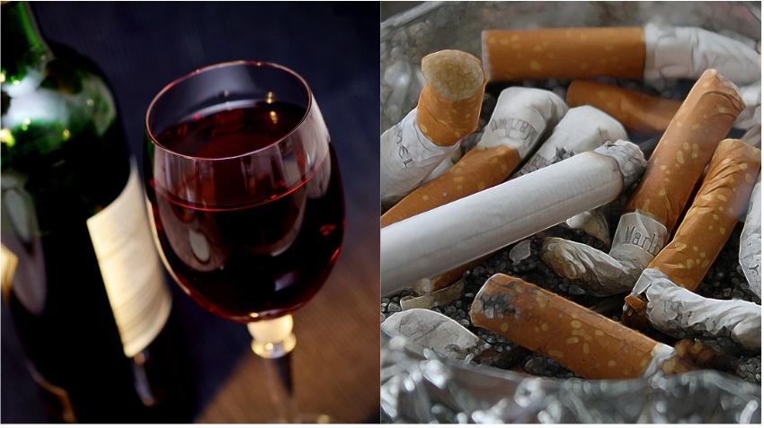 Una botella de vino equivale a 5 o 10 cigarros en cuanto a riesgo de cáncer; según estudio